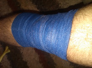 Wrapped Knee